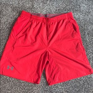Under Armour Mens Red Athletic Short SZ.XL